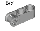 ! Б/У - Technic, Axle and Pin Connector Perpendicular 3L with 2 Pin Holes, Light Bluish Gray (42003 / 4211779) - Б/У