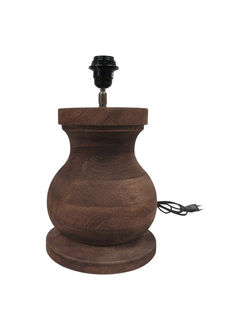 Настольная лампа LAMP BASE BAROQUIE BROWN D24XH29CM MANGO WOODарт.32142