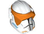 Large Figure Head Modified SW with Ball Joint Socket Phase 3 Clone with Visor Pattern  Commander Cody , White (22312pb01 / 6122633)