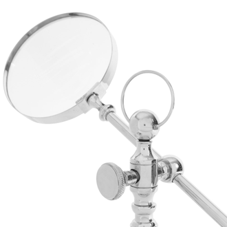 Лупа, латунь STEMMED MAGNIFYING GLASS BRESCIA NICKEL D14XH54CMарт.31788
