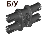 ! Б/У - Technic, Pin Double with Axle Hole, Black (32138 / 4119589) - Б/У