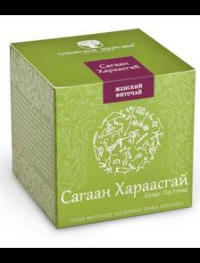 БАД Фиточай «Сагаан Хараасгай» Белая ласточка зеленая упаковка  500023     30 фильтр-пакетов
