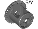 ! Б/У - Technic, Gear Differential with Inner Tabs and Closed Center, 28 Bevel Teeth, Dark Bluish Gray (62821b / 4562210) - Б/У