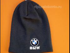 Шапка с логотпом авто BMW grey