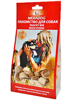 MERADOG  SNACKY MIX / МЕРАДОГ   Мини-роллы 150 Г