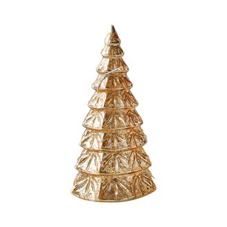 Елка с подсветкой LED DECORATIVE CHRISTMAS TREE FASTI GOLD D10XH18 GLASSарт.31695