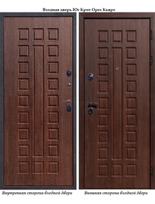 Входная дверь Йошкар Ола Юг Крит Орех кьяро VINORIT