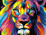 радужный лев 30х40