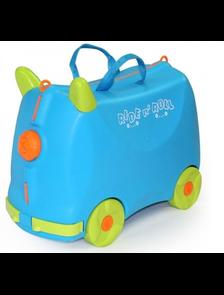 Детский чемодан-тележка на 4 колесах RIDE n ' ROLL / Райд н' Ролл голубой