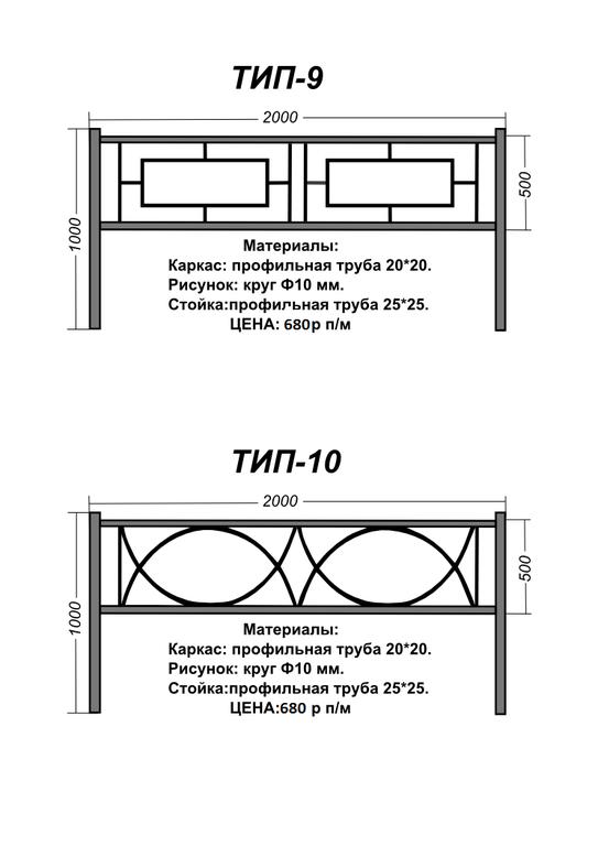 Оградки на могилу чертежи с размерами