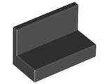Panel 1 x 2 x 1 with Rounded Corners, Black (4865b / 486526 / 6146220)