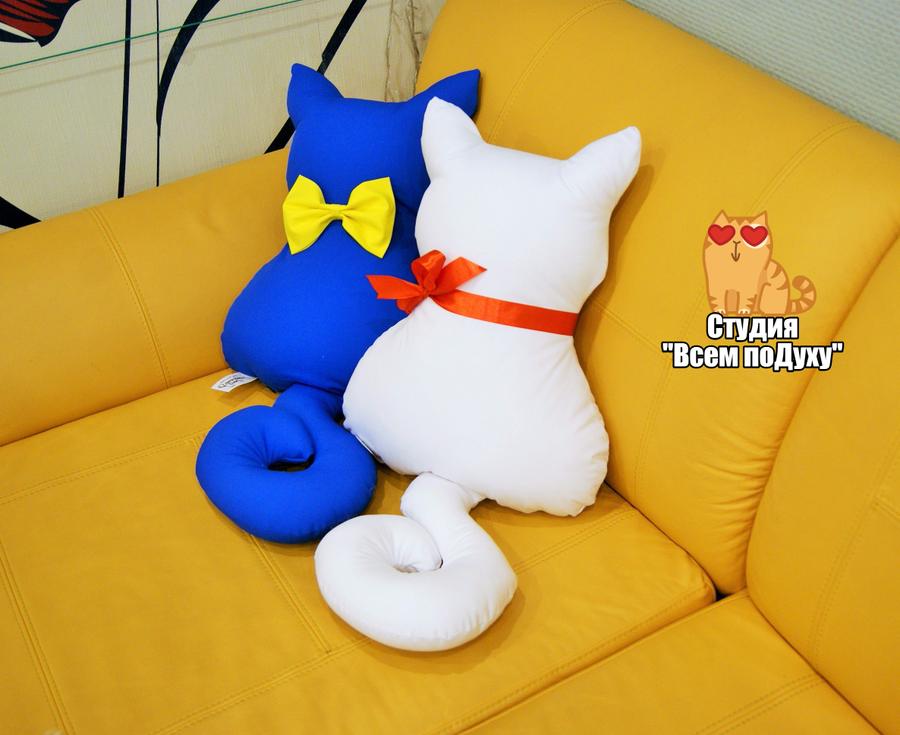 Декоративные подушки кошки своими руками выкройки фото схемы 90