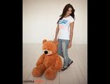 Плюшевый мишка (медведь) Тихон 130 см карамельный Россия