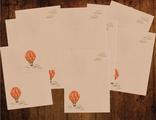 """Бумага для писем 10 листов """"Крафтовый воздушный шар"""""""