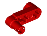 Technic, Liftarm 1 x 3 with 2 Axle Holes and Pin / Crank with Squared Pin Hole, Red (61408 / 6331864)