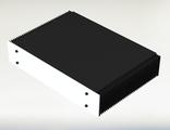 Корпус для транзисторного усилителя высотой 2U с боковыми радиаторами