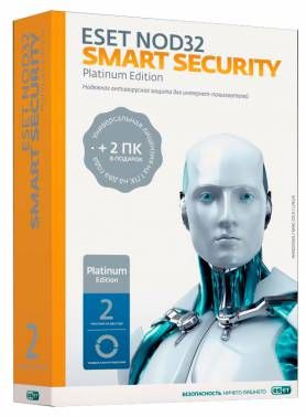 ПО Eset NOD32 Smart Security Platinum Edition - лиц на 3ПК,BOX (24мес) (NOD32-ESS-NS(BOX)-2-1)