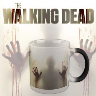 кружка, чашка, термокружка, ходячие мертвецы,  the walking dead, страшная, зомби, хамелеон, фильм
