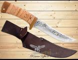 Нож Охотничий НС-22 (Рукоять: береста, Сталь: ЭИ-107, Тыльник: текстолит)