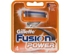 Лезвия GILLETTE FUSION POWER 4 ШТ