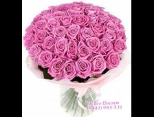 Розовый букет из розовых роз