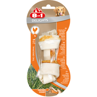 8in1 Delights Bone S Жевательная коcточка для собак Курица 11 см