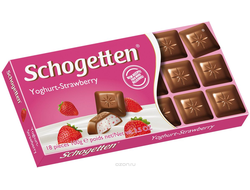 Schogetten Yoghurt-Strawberry Chocolate 100g (Герамания)