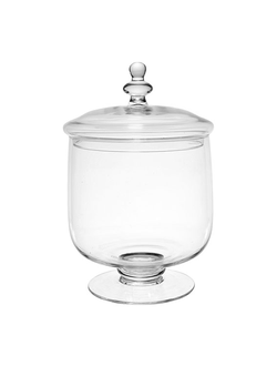 Банка с крышкой JAR WITH LID GUIMAUVE D20XH35CM GLASS арт. 31217