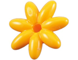 Friends Accessories Flower with 7 Thin Petals and Pin, Bright Light Orange (93081e / 4625279)