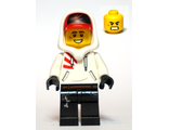 Jack Davids - White Hoodie with Cap and Hood ;Large Smile with Teeth / Angry;, n/a (hs050)