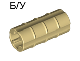 ! Б/У - Technic, Axle Connector 2L  Ridged with x Hole x Orientation , Tan (6538b / 4140453 / 4207456 / 65385) - Б/У