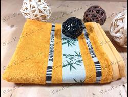 Бамбуковое полотенце спорт класс 48х98 Bamboo песочный