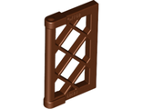 Window 1 x 2 x 3 Pane Lattice with Thick Corner Tabs, Reddish Brown (60607 / 6084571)
