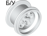 ! Б/У - Wheel 36.8mm D. x 26mm VR with Axle Hole, White (6595 / 4496709 / 659501) - Б/У