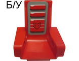 ! Б/У - Technic Seat 3 x 2 Base with Red Mask and Cushions on Gray Pattern (Sticker) - Set 8226, Red (2717pb01) - Б/У