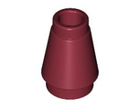 Cone 1 x 1 with Top Groove, Dark Red (4589b / 4541498)