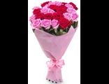 25 шт. розовые и красные розы