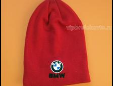 Шапка с логотипом авто BMW red