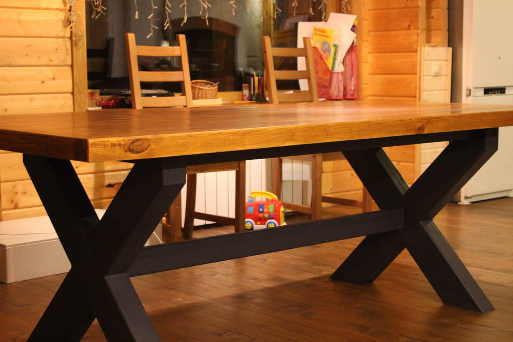 Большой стол своими руками с дерева 256