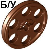 ! Б/У - Technic Wedge Belt Wheel  Pulley , Brown (4185) - Б/У