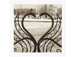 "Фото-картина ""Влюбленное сердце"""