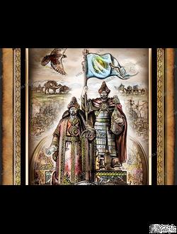 """Иллюстрация """"Первые Ханы Великой степи"""""""