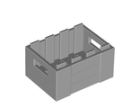 Container, Crate with Handholds, Light Bluish Gray (30150 / 6108560)