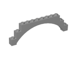 Brick, Arch 1 x 12 x 3 Raised Arch with 5 Cross Supports, Light Bluish Gray (18838 / 6096381)