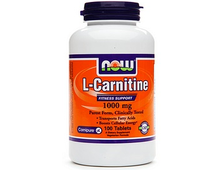 NOW Carnitine Tartrate 1000 mg (100 табл.)
