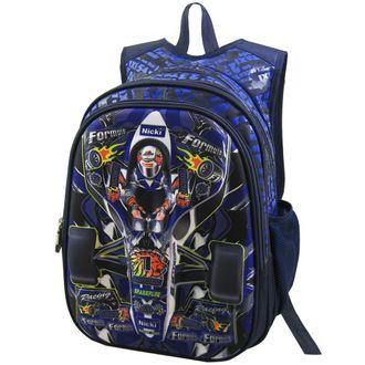 Детский рюкзак для мальчиков 3D Stelz гонки