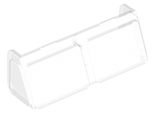 Glass for Windscreen 2 x 6 x 2 Train, Trans-Clear (13756 / 6064655 / 6218140)