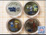 Цветные монеты Sochi-2014 (набор «эконом»)