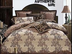 Артикул H020. Элитное постельное белье на 100% хлопковой основе с использованием шелковой нити,декорировано вышивкой