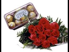 Набор розы с шоколадом